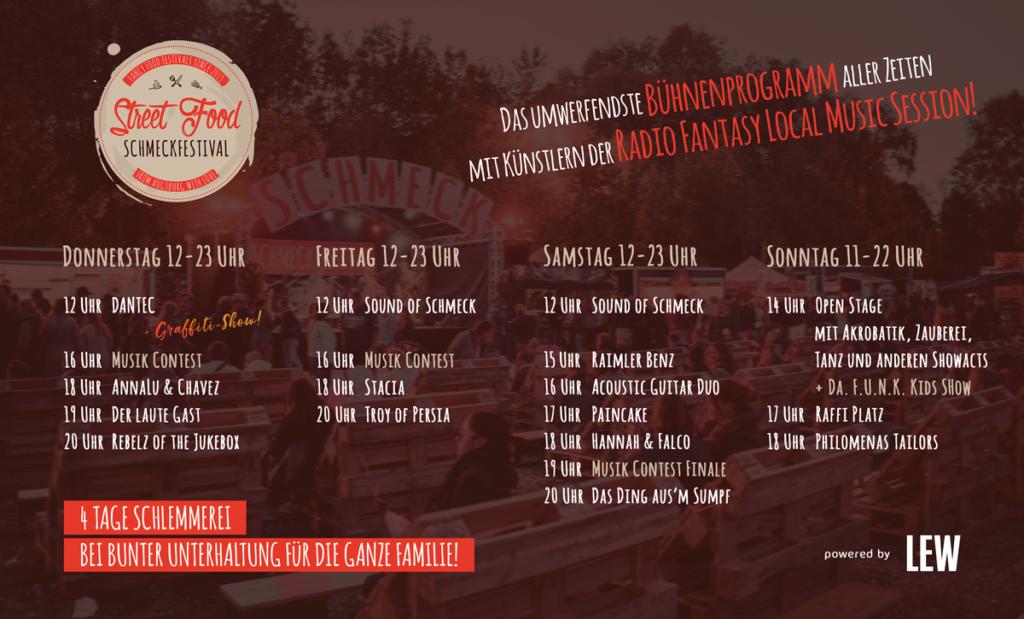 street food schmeckfestival augsburg bühne programm